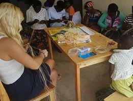 Teaching vocational workshops Uganda